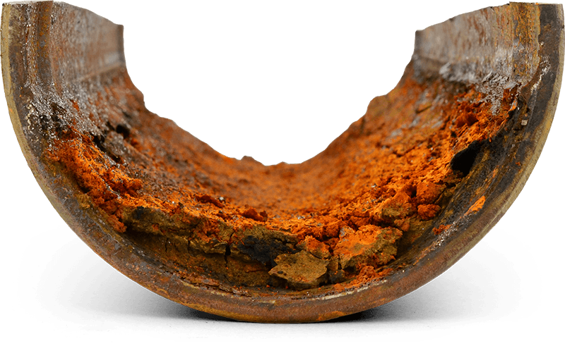 Corroded Iron Pipe Cross Section